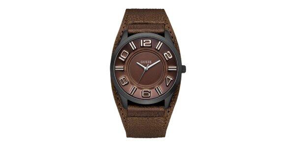 Dámské hnědé analogové hodinky Guess