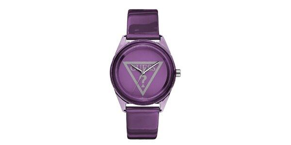 Dámské fialové analogové hodinky Guess