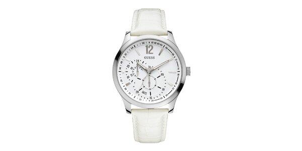 Dámské bílé analogové hodinky Guess