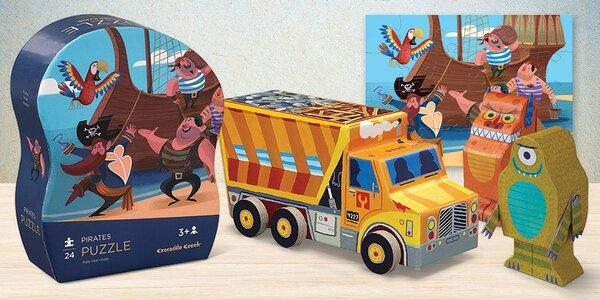 Dětské puzzle skládačky ve hravých krabičkách