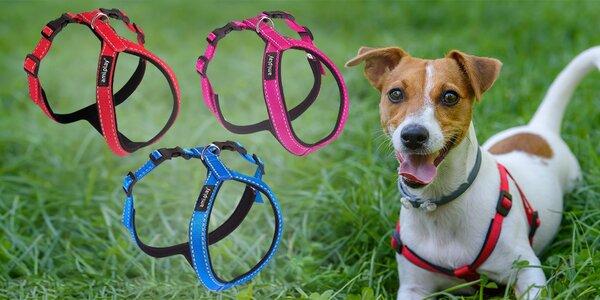 Nylonový reflexní postroj pro psy