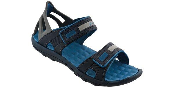 Pánské černo-modré sandále Rider