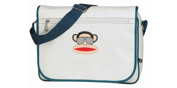 Modro-bílá taška s opicí Paul Frank