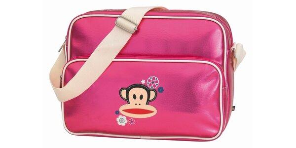 Růžová taška na notebook s opičkou Paul Frank