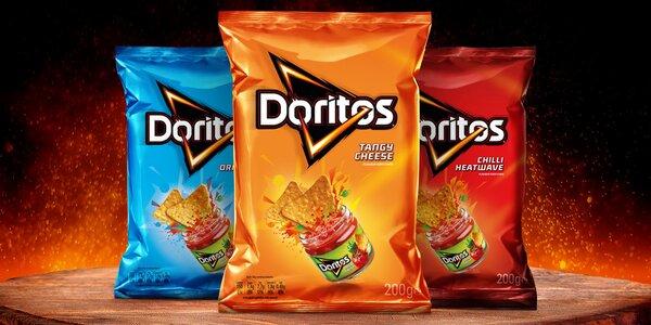 9 balíčků oblíbených nachos Doritos