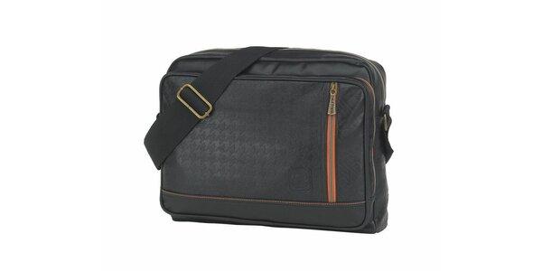Černá taška přes rameno Paul Frank
