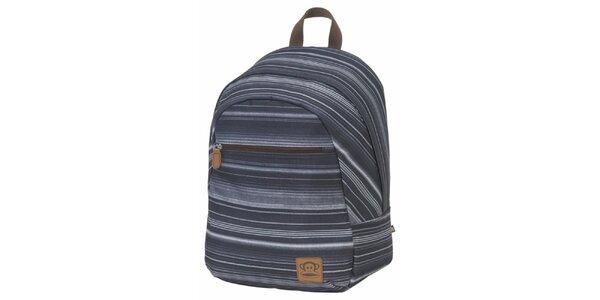 Šedý pruhovaný batoh Paul Frank