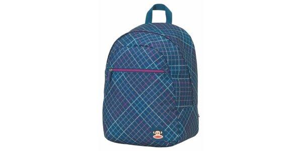 Modrozelený károvaný batoh Paul Frank