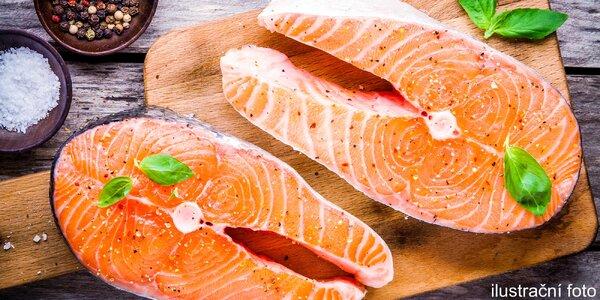 Steaky z divokého lososa keta v kilovém balení