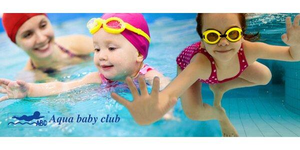 Kurz plavání i kondiční lekce pro kojence a batolata