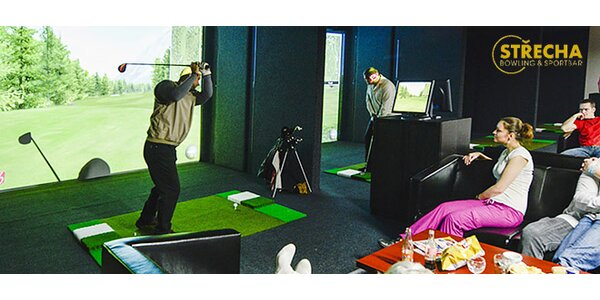 Špičkový golfový simulátor až pro 5 osob (45-90 min)