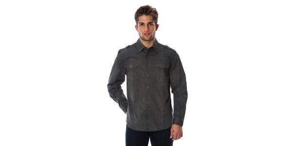 Pánská šedá sportovní košile Cristian Lay