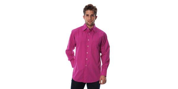 Pánská fuchsiová košile Cristian Lay