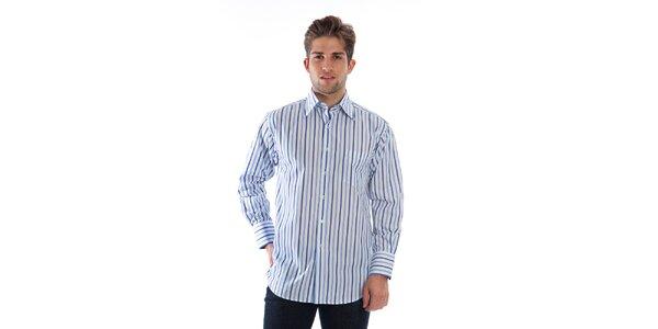 Pánská modro-bílá pruhovaná košile Cristian Lay