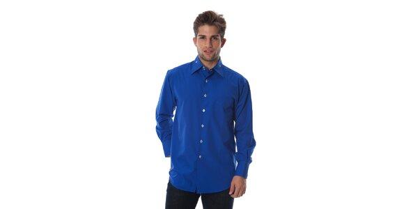 Pánská královsky modrá košile Cristian Lay