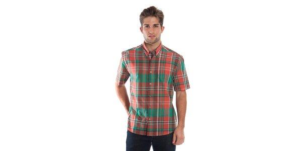 Pánská červeno-zelená kostkovaná košile Cristian Lay