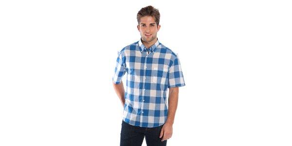 Pánská modro-bílá kostkovaná košile Cristian Lay