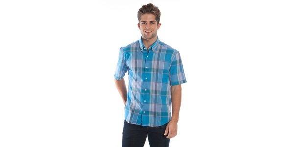 Pánská modro-zelená kostkovaná košile Cristian Lay