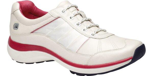 Dámské bílé botasky Clarks s technologií Wave Walk