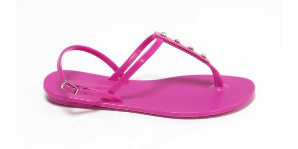 Dámské fuchsiové sandály Favolla s kamínky