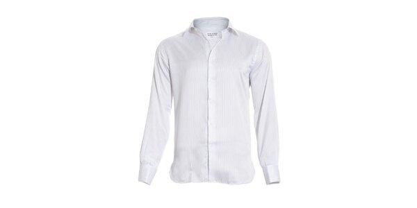 Pánská slim-fit košile na manžetové knoflíčky Vincenzo Boretti v bílé barvě… ae3feea3e7