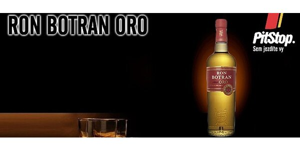 3 panáky karibského rumu Botran Aňejo Oro