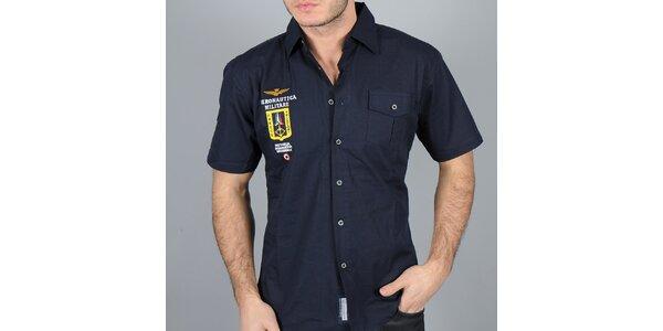 Pánská tmavě modrá košile Auronautica Militare