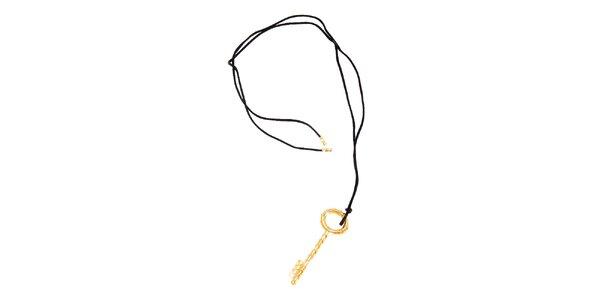 Dámský zlacený přívěsek Just Cavalli klíč
