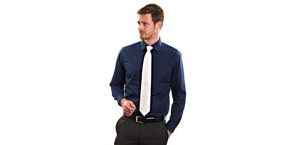 Pánská tmavě modrá košile s dlouhým rukávem Vincenzo Boretti