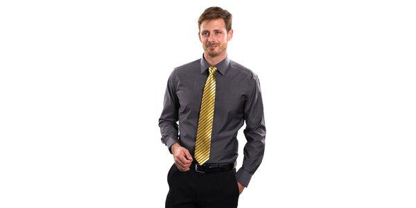 Pánská šedá košile Vincenzo Boretti