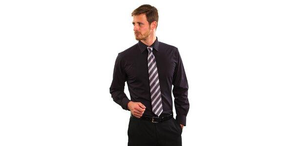 Pánská černá košile Vincenzo Boretti