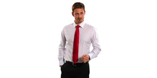 Pánská modro-bílá kostičkovaná košile Vincenzo Boretti