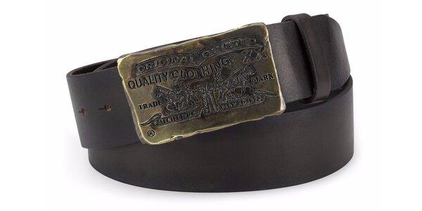 Pánský pásek Levi's - AB10732 Tmavě hnědý