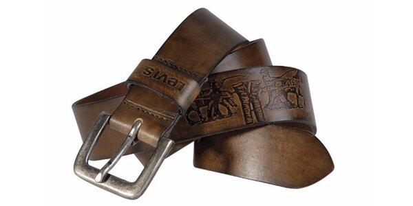 Pánský pásek Levi's - AB11378 Hnědý