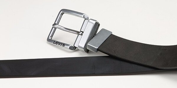 Pánský oboustranný pásek Levi's - AB220716 Černo-hnědý