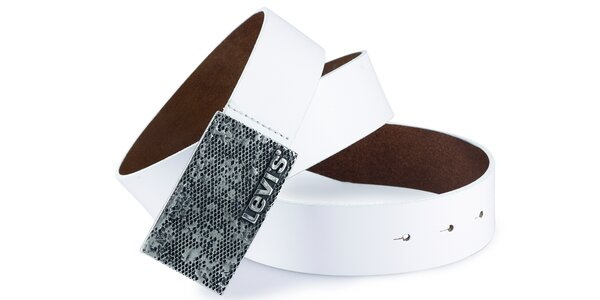 Pánský pásek Levi's - AB215711 Bílý