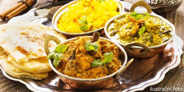 Pestrobarevné indické menu pro 2 gurmety