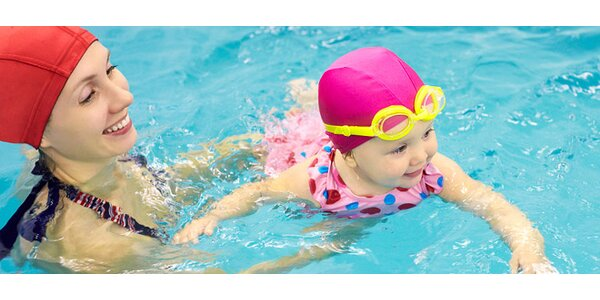 5 lekcí plavání dětí a miminek ve slané vodě