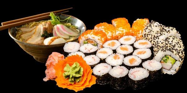 Autentické japonské menu: polévka a sushi rolky