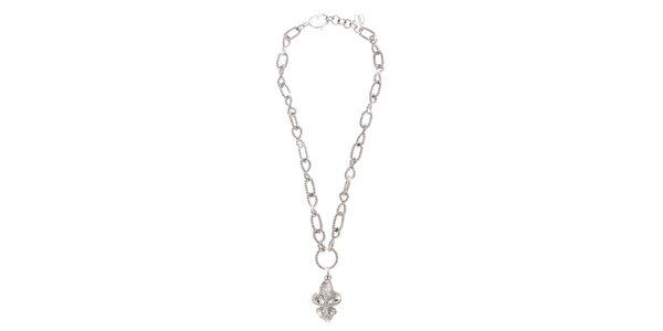 Dámský postříbřený řetěz Just Cavalli s lilií
