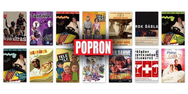 20 nebo 12 DVD s českými i zahraničními filmy