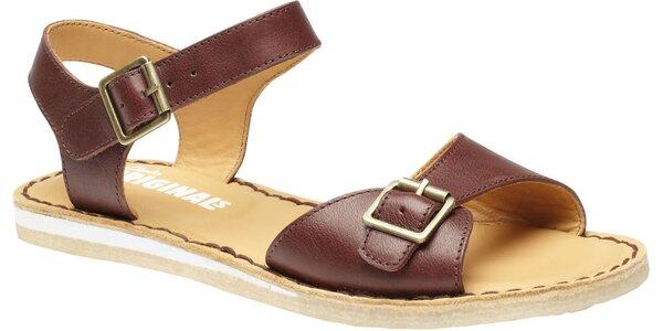 Dámské tmavě hnědé sandále Clarks