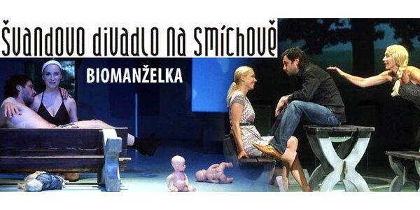Vstupenka do Švandova divadla na hru Biomanželka