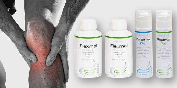 Kloubní výživa Flexmal a gel na postižená místa