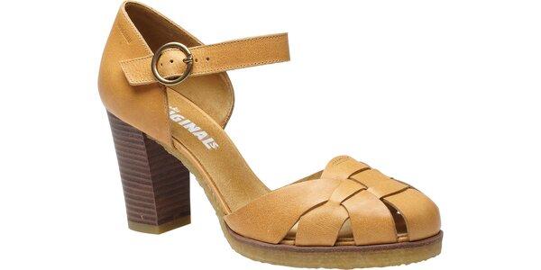 Dámské světle hnědé páskové boty Clarks