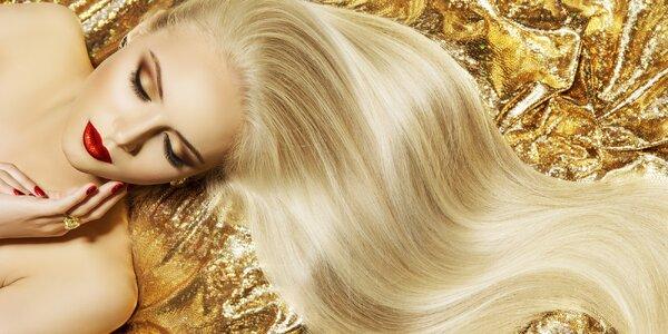 Střih, masáž hlavy a regenerační ošetření vlasů