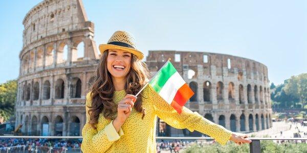 Půlroční online kurz italštiny + přístup zdarma