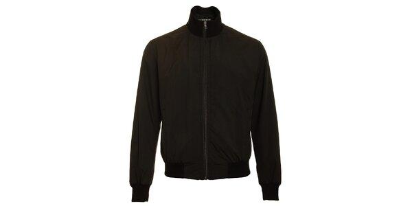 Pánská černá jarní bunda Pietro Filipi