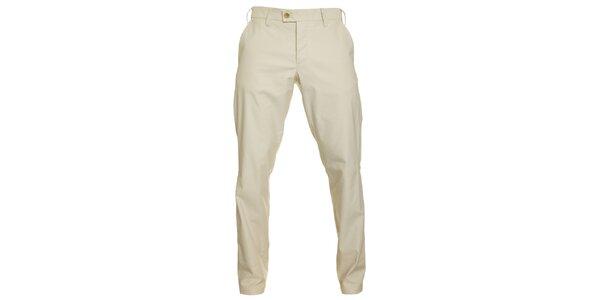 Pánské krémové chino kalhoty Pietro Filipi