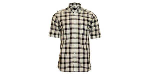 Pánská černo-krémová kostkovaná košile Pietro Filipi